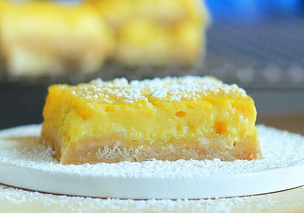 healthy lemon bars - these have silken tofu, I am so going to make ...
