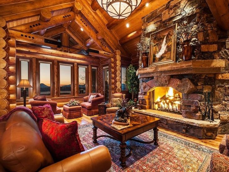 great room log homes pinterest