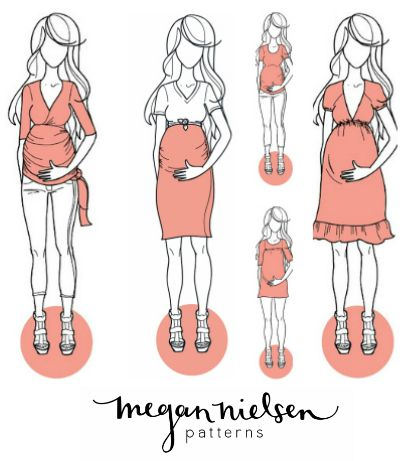Megan nielsen maternity sewing patterns from the haby goddess