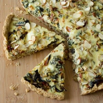 Swiss chard tart with chèvre and leeks - I agree with the author of ...