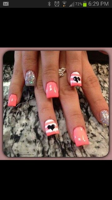 valentines nail designs step by step