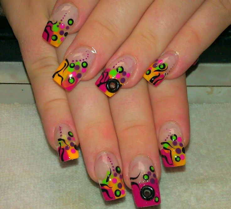 Wild and crazy nail design | Dani | Pinterest