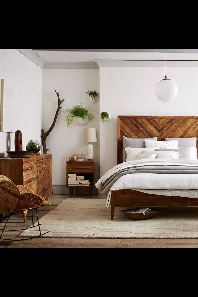 West elm bedroom i like the furniture and the headboard very much