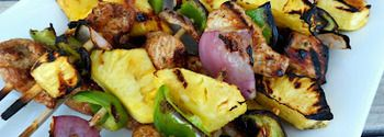Grilled Island Chicken Kabobs | Six sisters stuff | Pinterest