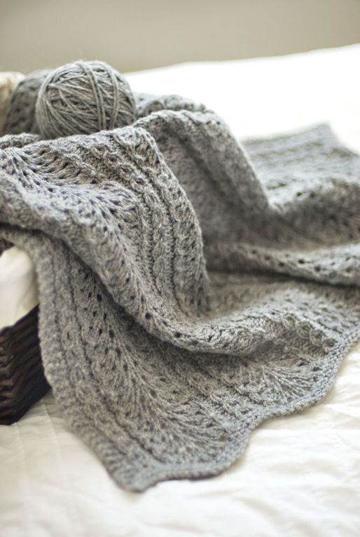 Free Slip Stitch Knitting Patterns : ModA?le de tricot - Brooklyn Tweed Couverture SHALE BABY BLANKET   Amazing Pi...
