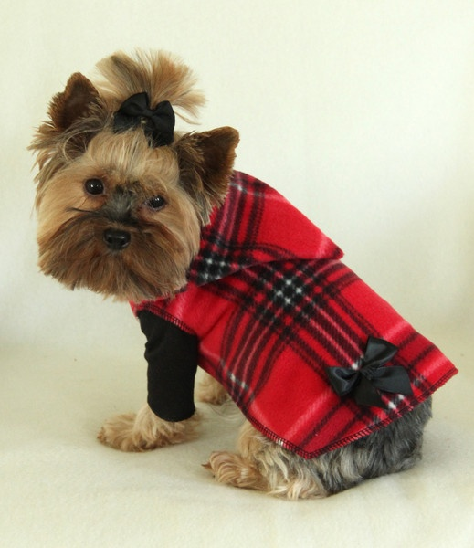 Red Plaid Hoodie Dress | Daisey- Dogs | Pinterest
