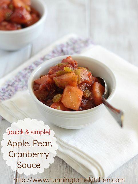 quick & simple) Apple, pear, cranberry sauce | Recipe