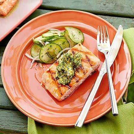 Grilled Salmon with Herb and Meyer Lemon Compound Butter Recipe # ...