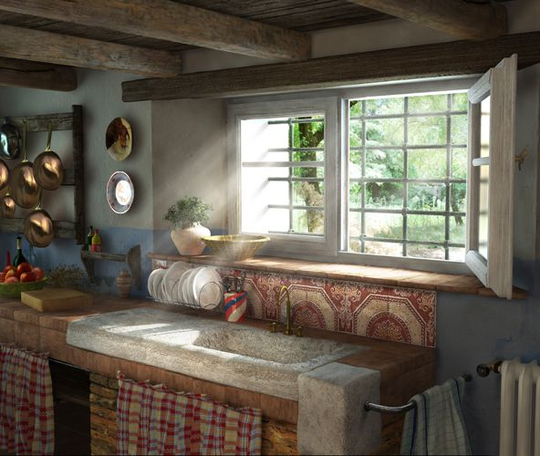Pinterest english country cottages joy studio design - Cucina in english ...