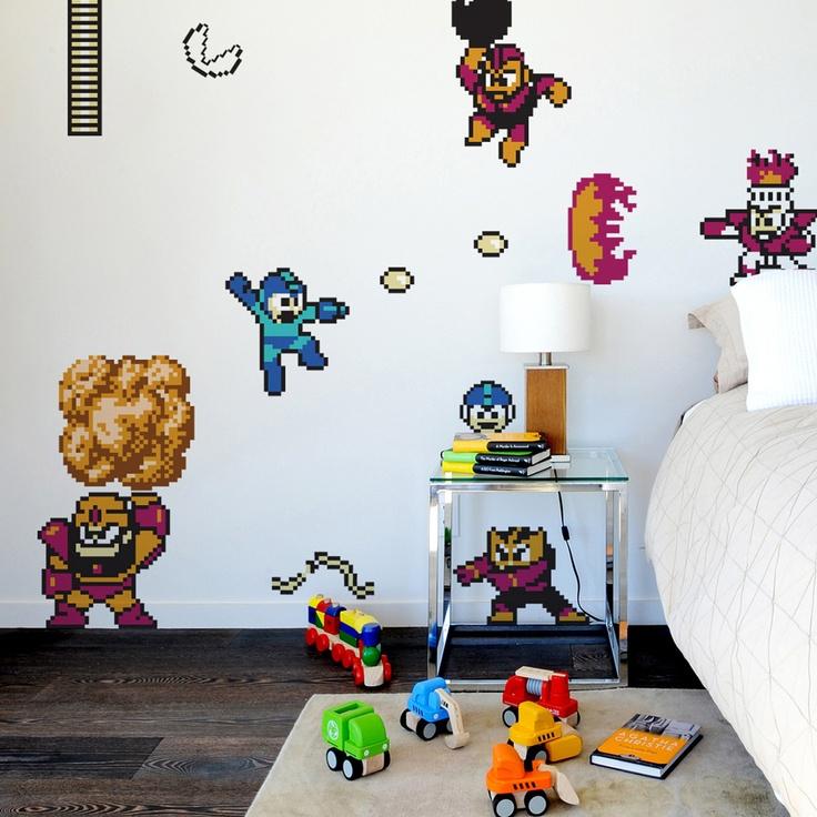 Blik mega man wall decals - Blik wall stickers ...