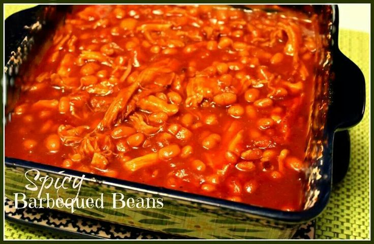 Spicy bbq beans | Southern Yummy Food | Pinterest