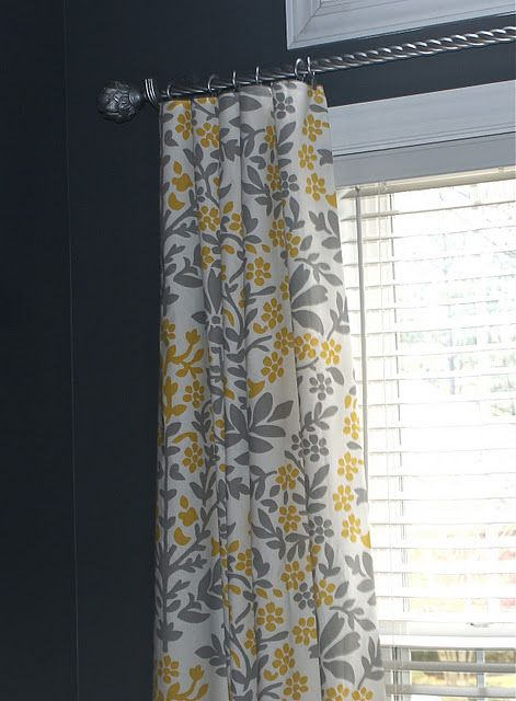 No-sew curtains made from Target table cloths
