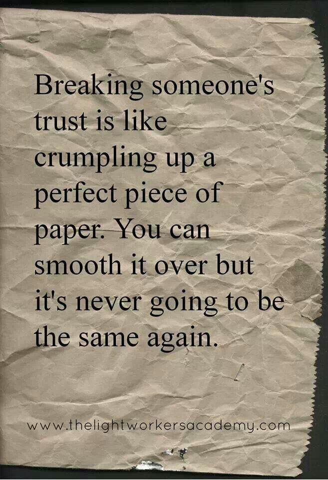 Broken trust True Dat Pinterest