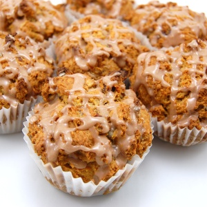 Sweet Pea's Kitchen » Pecan Sweet Potato Muffins with Cinnamon Glaze