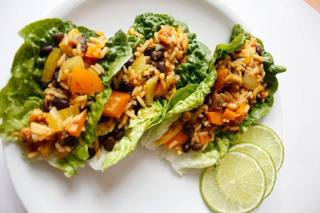 Vegetarian Lettuce wraps | Veggies | Pinterest