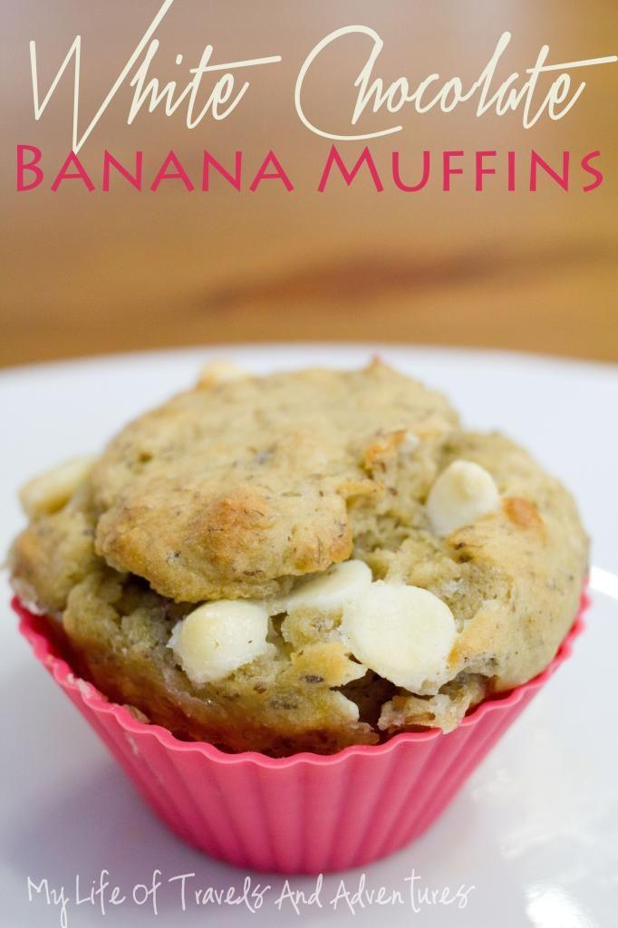 Chocolate, Banana, And White Chocolate Chip Muffins Recipe ...