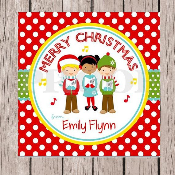 PRINTABLE Personalized Christmas Carolers Gift Tags by ciaobambino, $6 ...