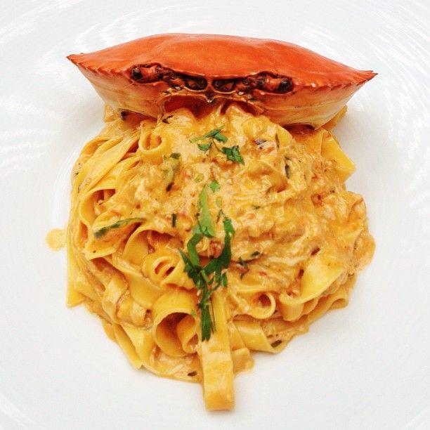 Crab Pasta. | Dreams of pigging out | Pinterest