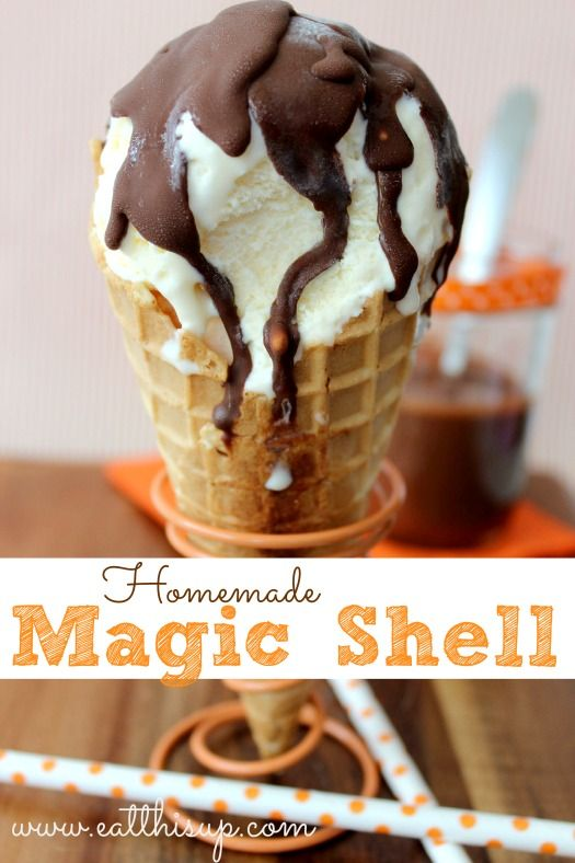 Homemade Magic Shell! I'll personally use REFINED coconut oil.