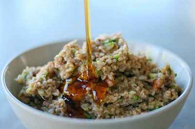 Zucchini Bread Oatmeal... I'm all about sneaking veggies into ...