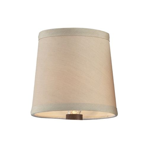elk lighting clip on beige chandelier lamp shade 1090 destination. Black Bedroom Furniture Sets. Home Design Ideas