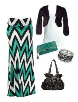 Cute Maxi Skirt with Complete Style