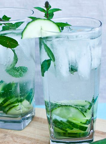 Weekend Cocktail: THE CUCUMBER GIN FIZZ .....2 oz Gin 1 oz Simple ...