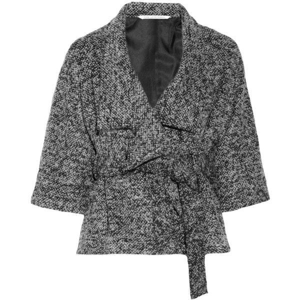 Diane von Furstenberg Haruka bouclé jacket ($350) ❤ liked on Polyvore