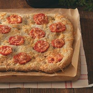 Tomato-Herb Focaccia (tomatoes, mozzarella cheese, parmesan cheese)