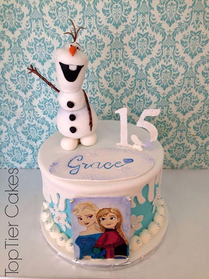 Olaf The Snowman Cakes   Party Invitations Ideas
