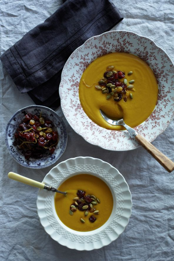 Squash And Fennel Soup With Candied Pumpkin Seeds Recipes — Dishmaps