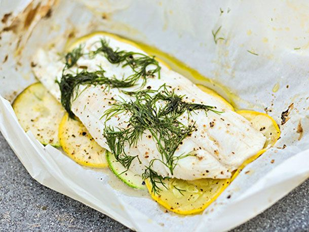 Fish in Parchment with Dill and Summer Squash | How To Cook Fish ...