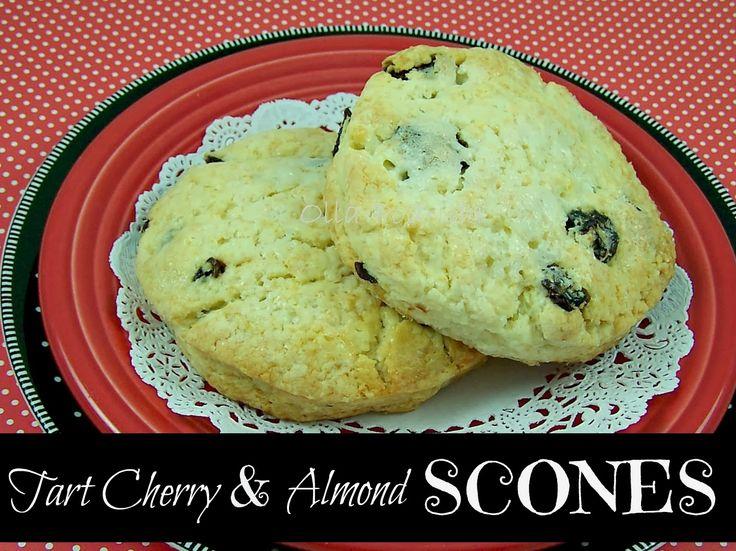 Tart Cherry and Almond Scones | February | Cherry Month | Pinterest