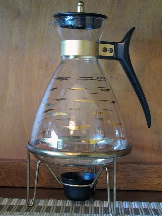 Pyrex Coffee Maker How To Use : Pyrex Coffee pot with warmer stand Dish Me Do! Pinterest