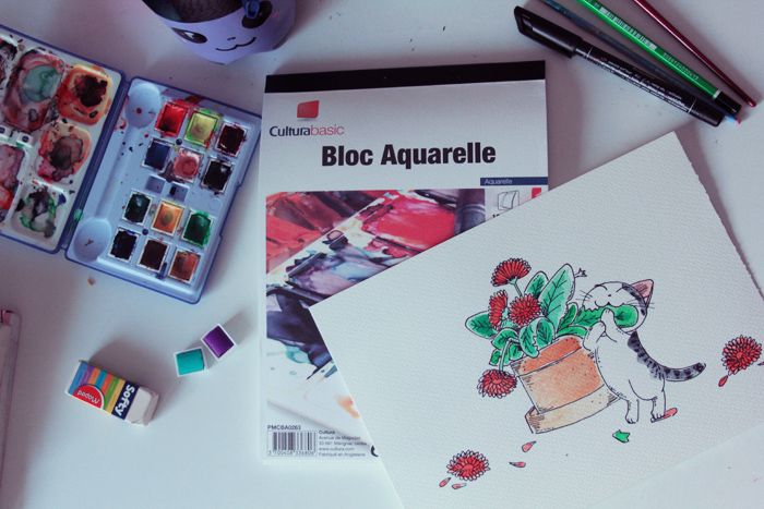 arale-diy-aquarelle-3  Watercolor manga  Pinterest