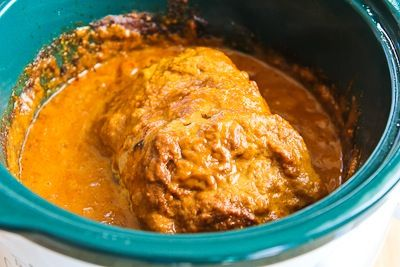 Slow Cooker Recipe for Pork Sirloin Roast with Spicy Peanut Sauce ...