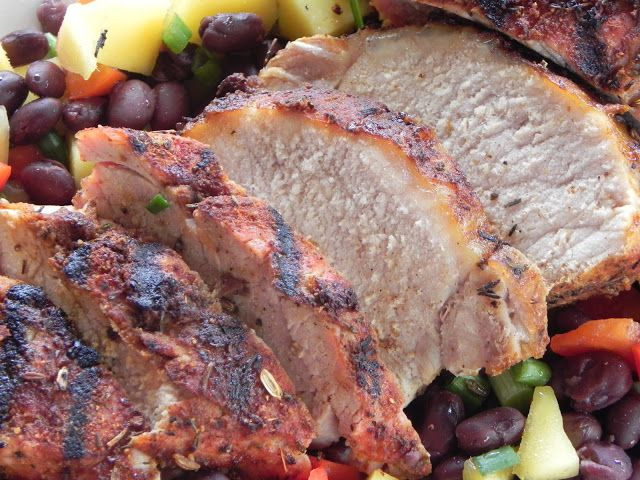 Sweet And Fiery Pork Tenderloin With Mango Salsa Recipe — Dishmaps