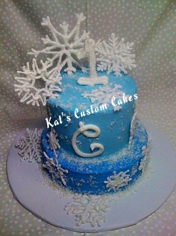 Snowflake 1st Birthday Cake Snowflake 1st Birthday Cake