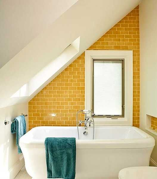 25 modern bathroom ideas adding sunny yellow accents to - Yellow and turquoise bathroom ...