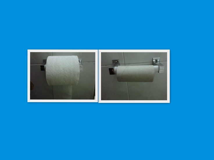 My toilet paper was completed #marchphotoaday