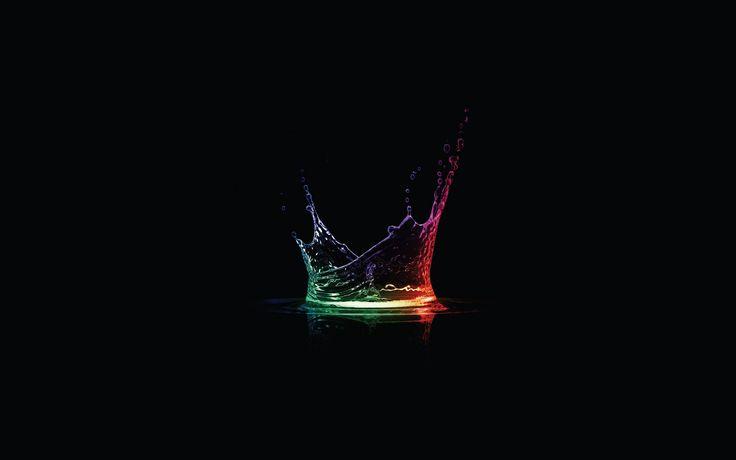 Color spectrum water drop.