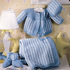 Free Knitting Patterns For Babies Layettes : Precious Knitted Baby Layette Knit ePattern