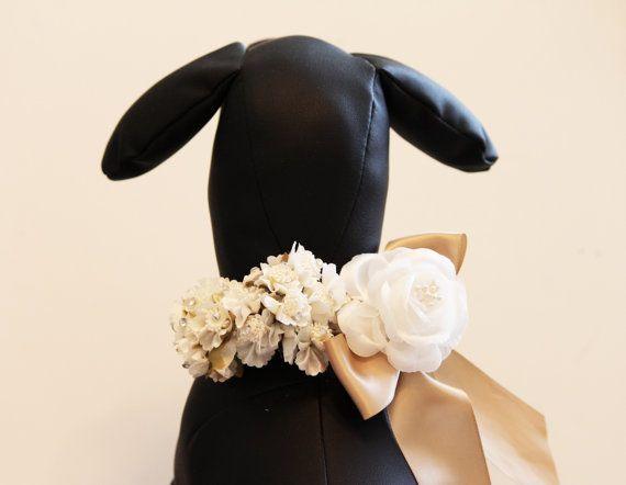 dog collar high quality leather dog collar wedding dog accessory