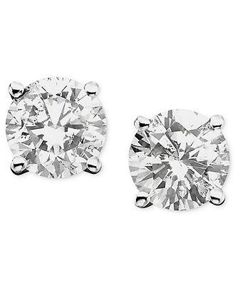 Diamond earrings macy 39 s diamond earrings clearance for Macy s jewelry clearance