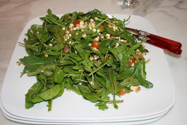 arugula & corn salad. | food [salads/veg] | Pinterest