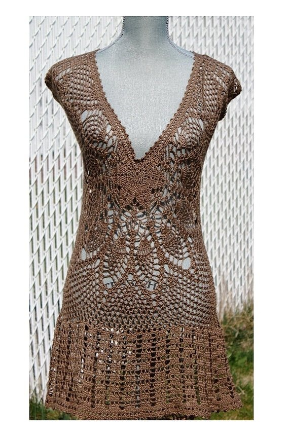 Crochet Clothing : Crochet Dress by DearAlina Craft Madness Pinterest