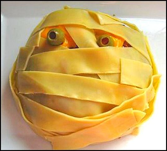 Fun With Food For Halloween meatloaf mummy or just a hamburger patty would be fun as well