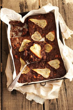 Pear and chocolate cake with pear chips   Cooking   Pinterest