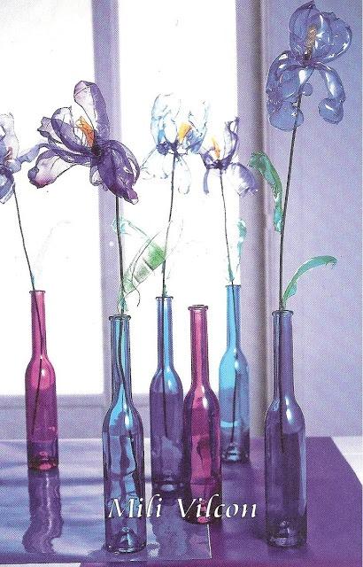 Flores con botellas plasticas  Reciclado de cristal ...