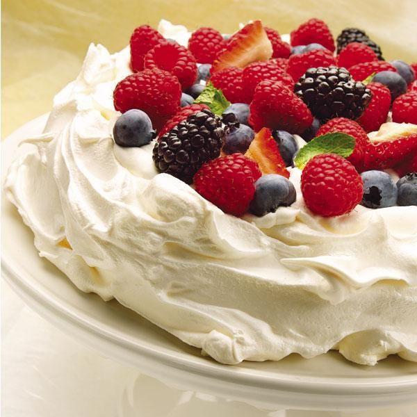 Pavlova with Spring Berries #easter | More Desserts | Pinterest
